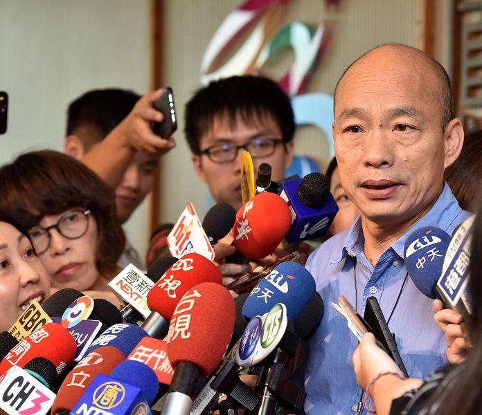 韓國瑜痛批蘇貞昌對北高兩市水災兩套標準